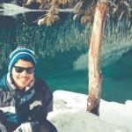 O inverno nas montanhas de Alberta