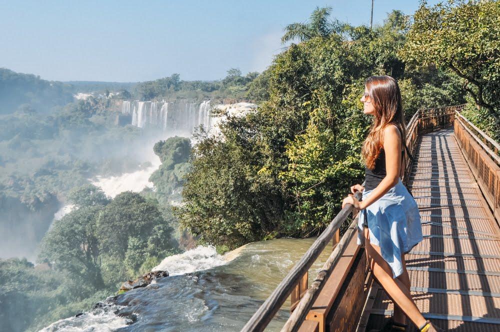 Vista da ponte no Parque Nacional Iguazú