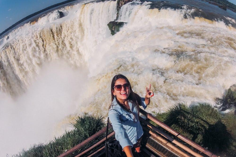 Cataratas na Garganta do Diabo no Parque Nacional Iguazú