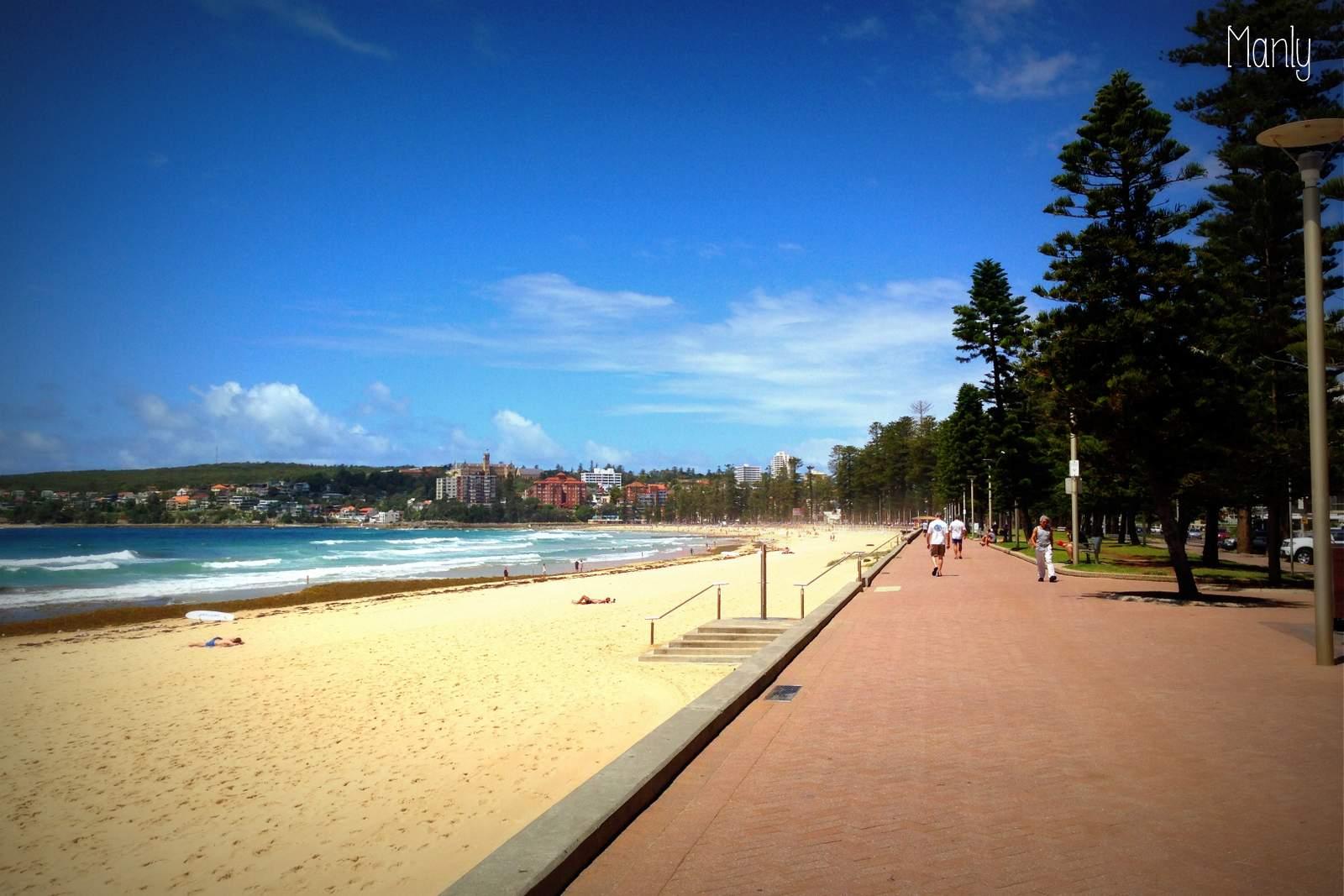 Praia de Sydney na Austrália, manly beach