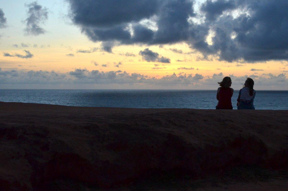 Nascer do sol no chapadão, praia de pipa rn