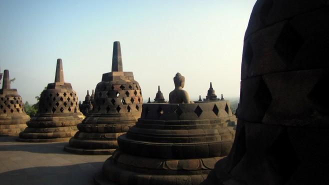 Monumentos em Jogjakarta, Indonésia