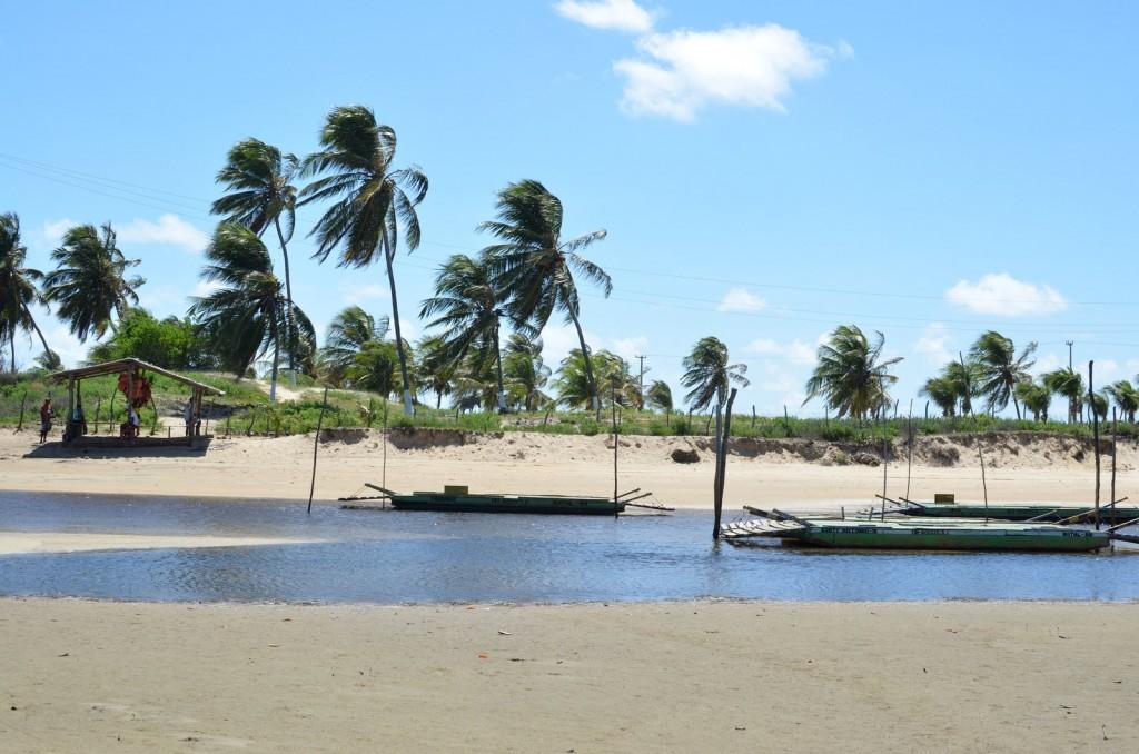 Travessia de carros Rio Catu RN