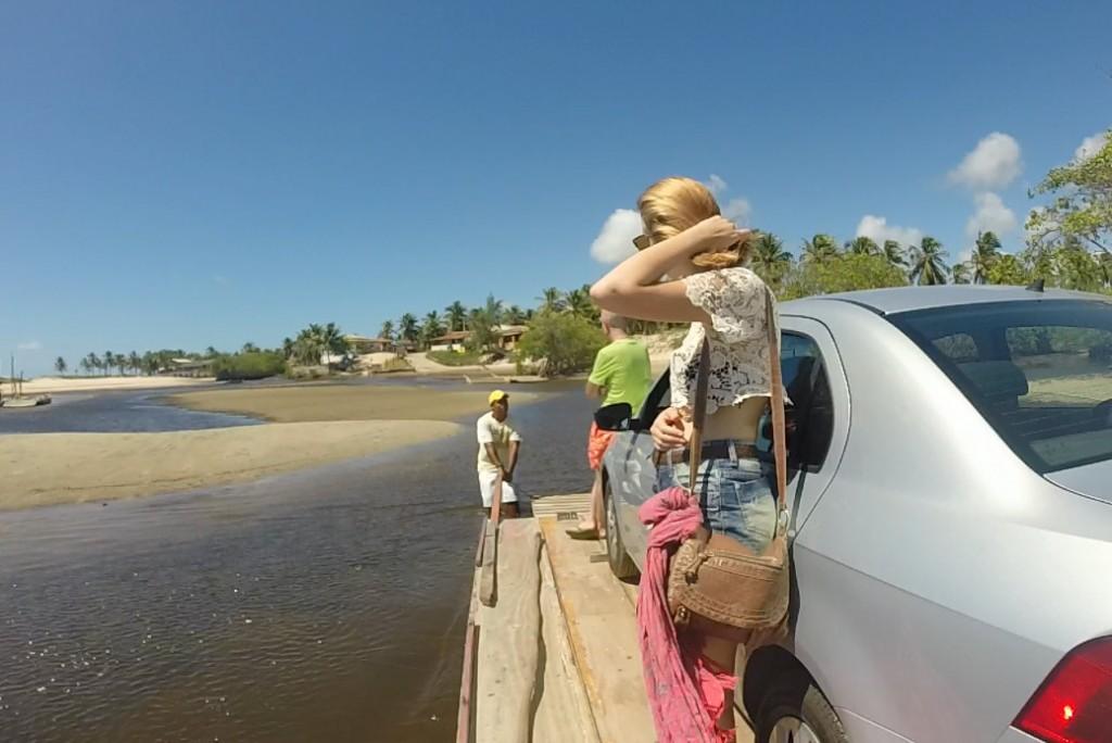 Travessia de carros Rio Catu Sibaúma RN