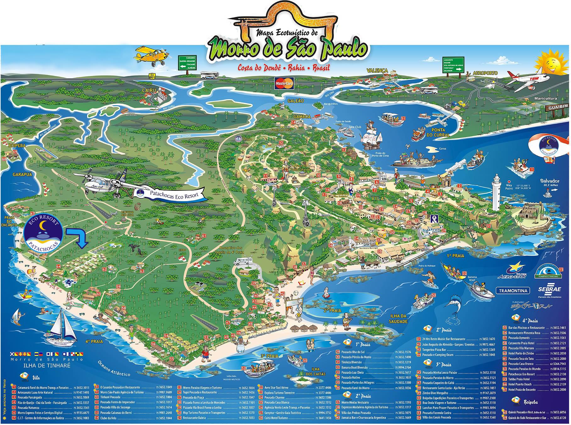 mapa morro de são paulo