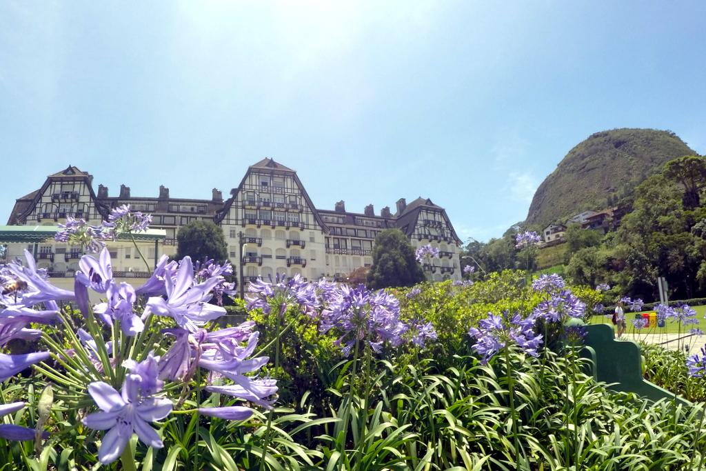 Fachada do Palácio Quitandinha em Petrópolis