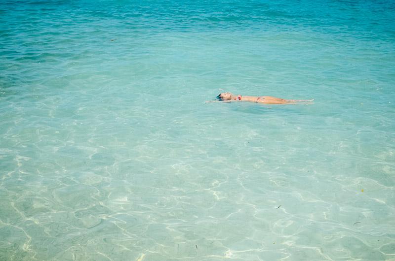 Turquesômetro explodindo nas águas das Ilhas do Rosário
