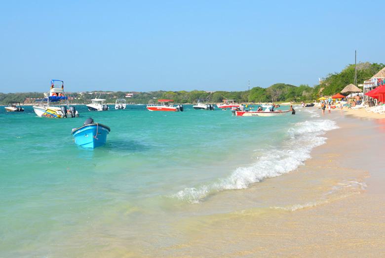 Playa Blanca em Cartagena