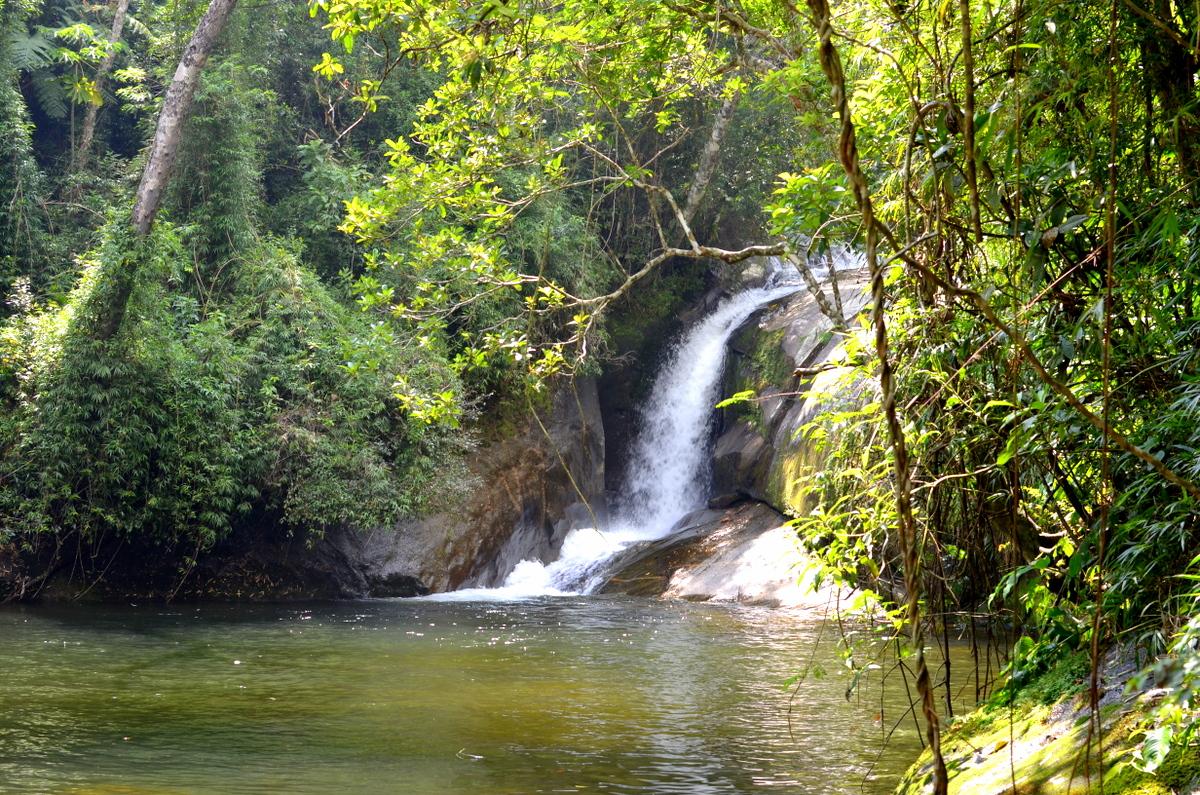 Vista da Cachoeira Poção, no Rocio