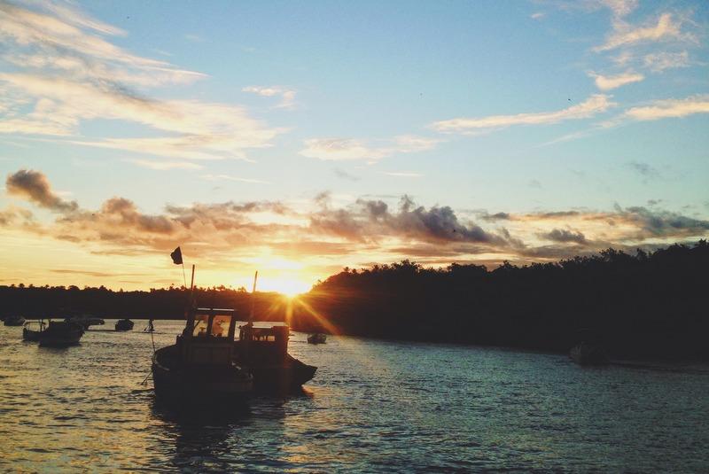 pôr do sol rio caraíva