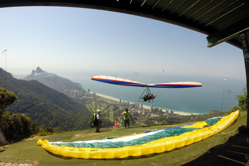voar de asadelta ou parapente no Rio