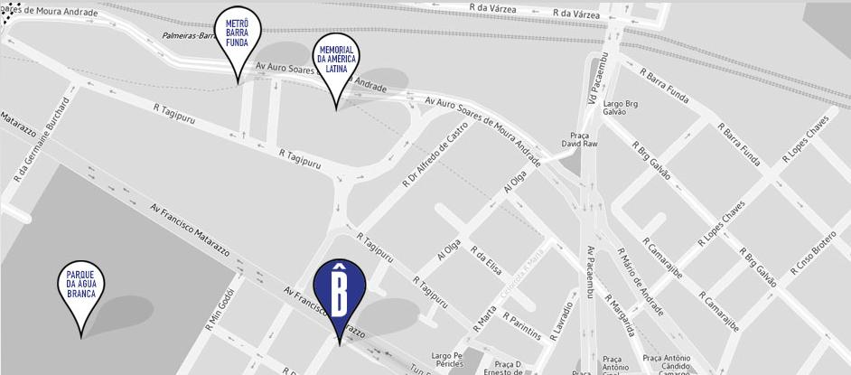 localização Bê Hotel
