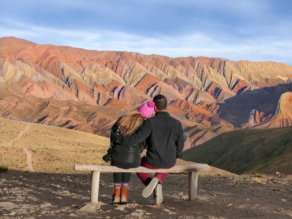 Vista do Cerro Catorce Colores na Argentina