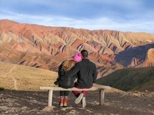 Vista do Cerro Catorce Colores, Argentina