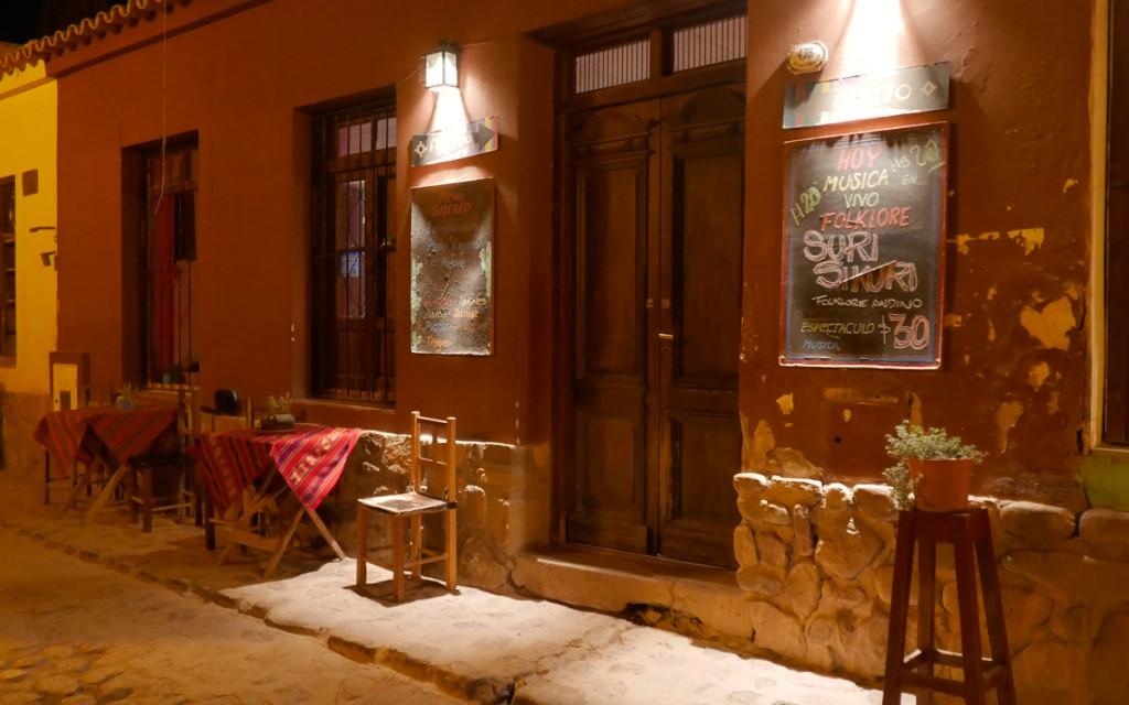 Fachada do restaurante Aisito em Humahuaca