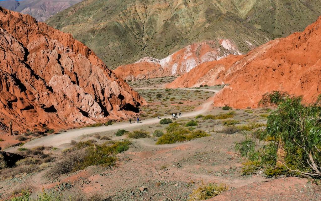 Trilha do Paseo Los Colorados em Purmamarca