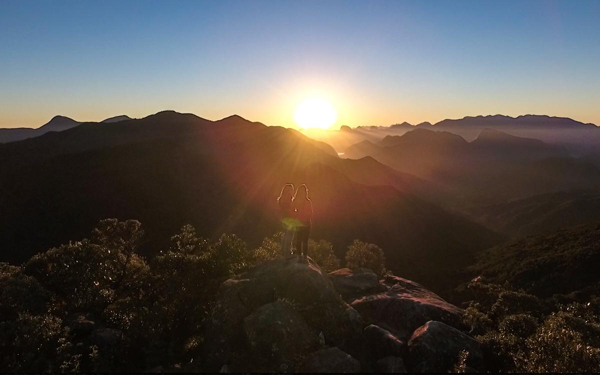 Nascer do sol em Petrópolis