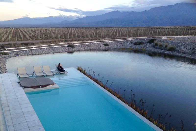 piscina infinita vinícola
