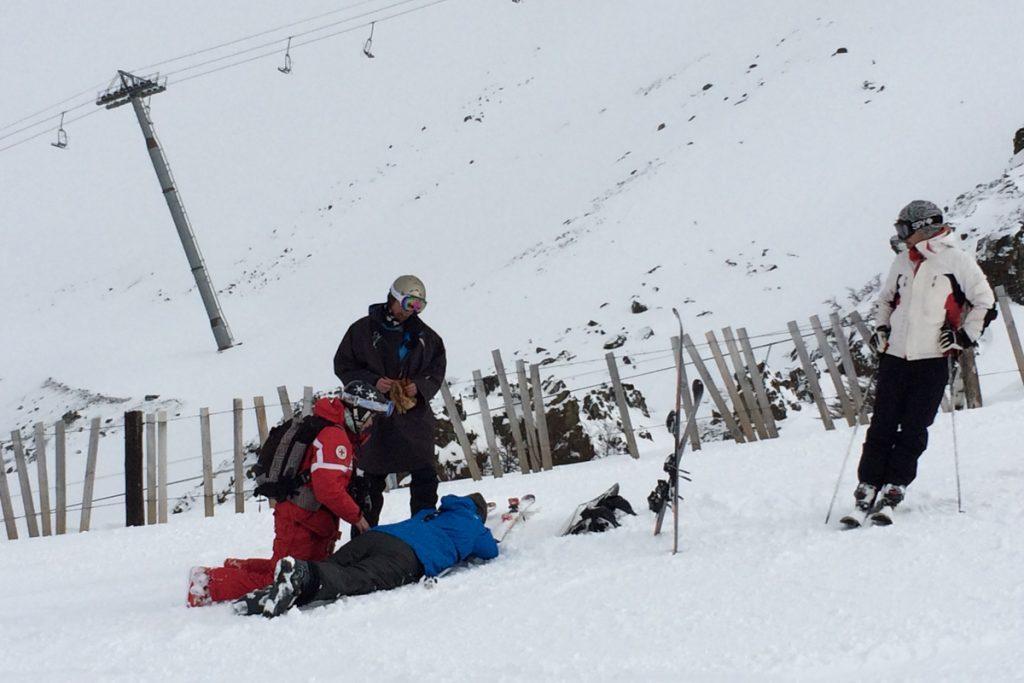 acidente esqui