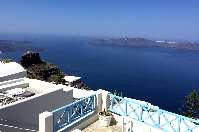 Hotel com vista da Caldera em Santorini