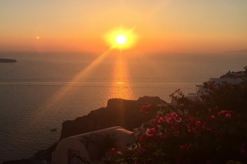 Por do sol em Oia Santorini