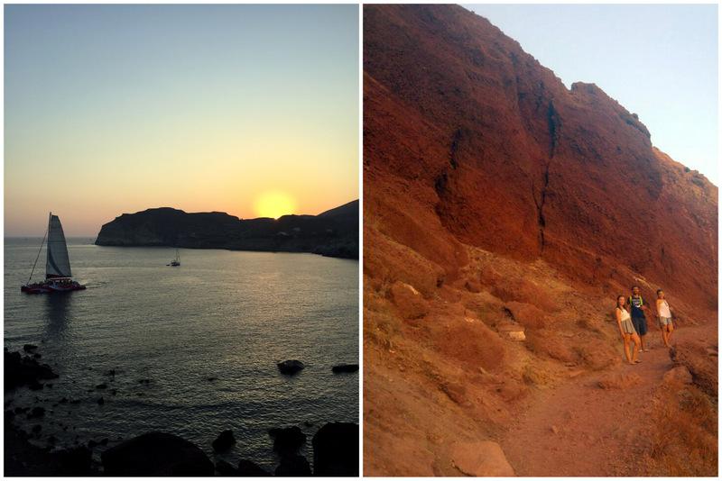 trilha red beach santorini