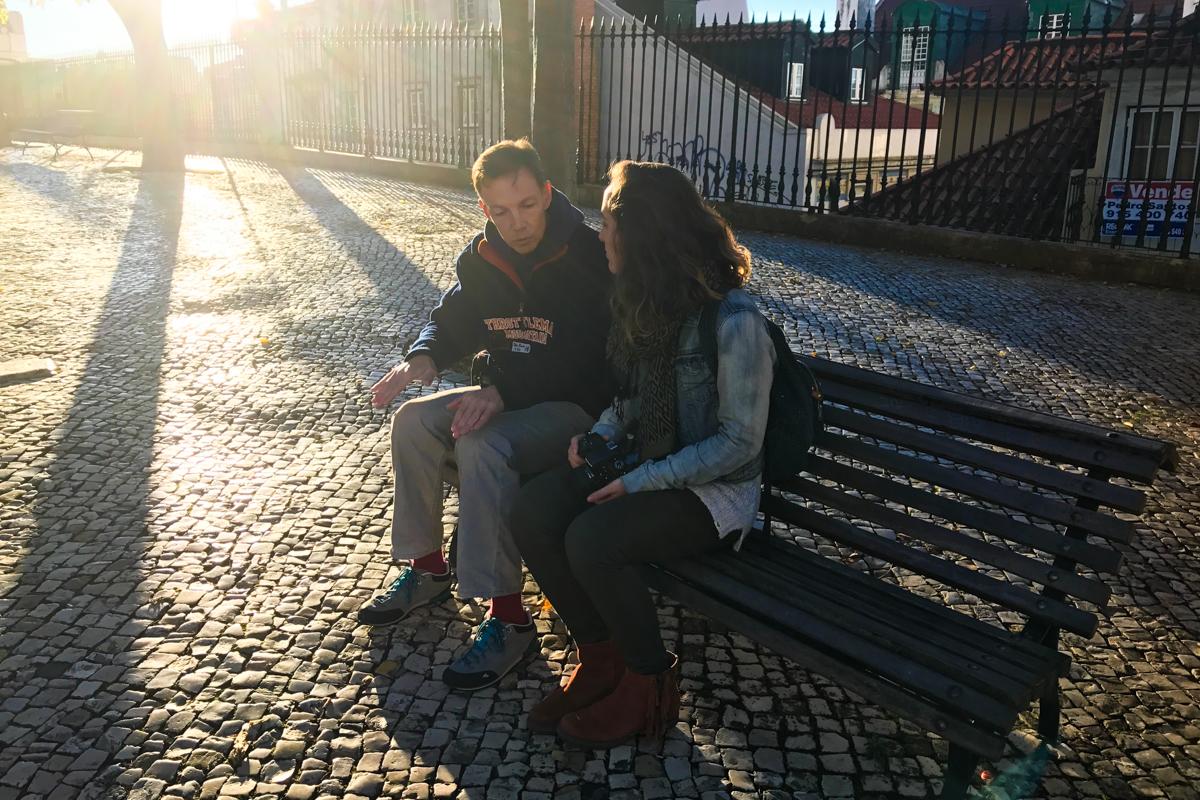 Trocando ideias sobre fotografia com o Miguel