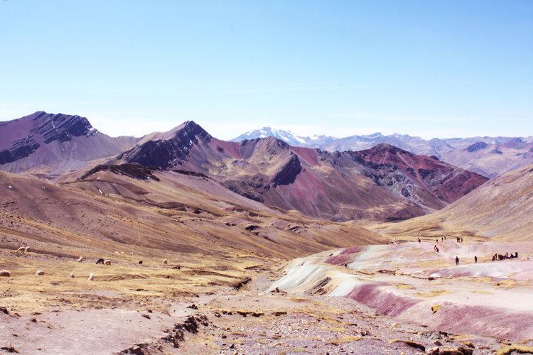 trilha Montanha colorida do Peru