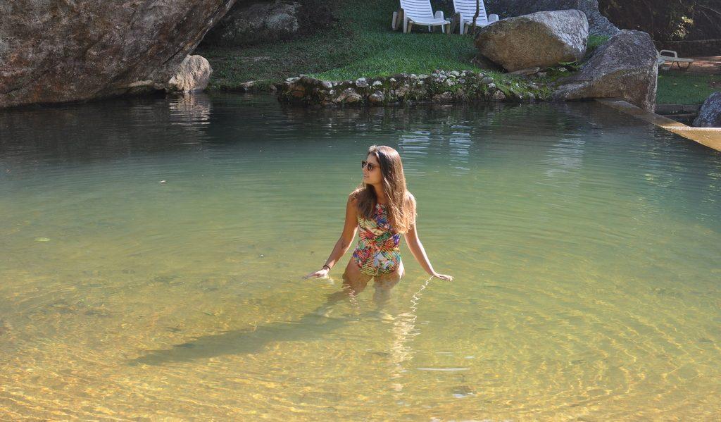Piscina natural da Pousada Paraíso, Itaipava