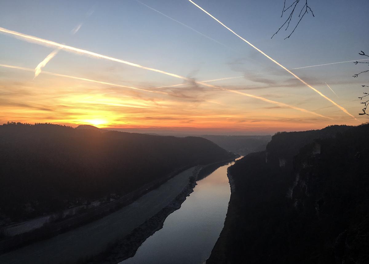 pôr do sol bastei bridge