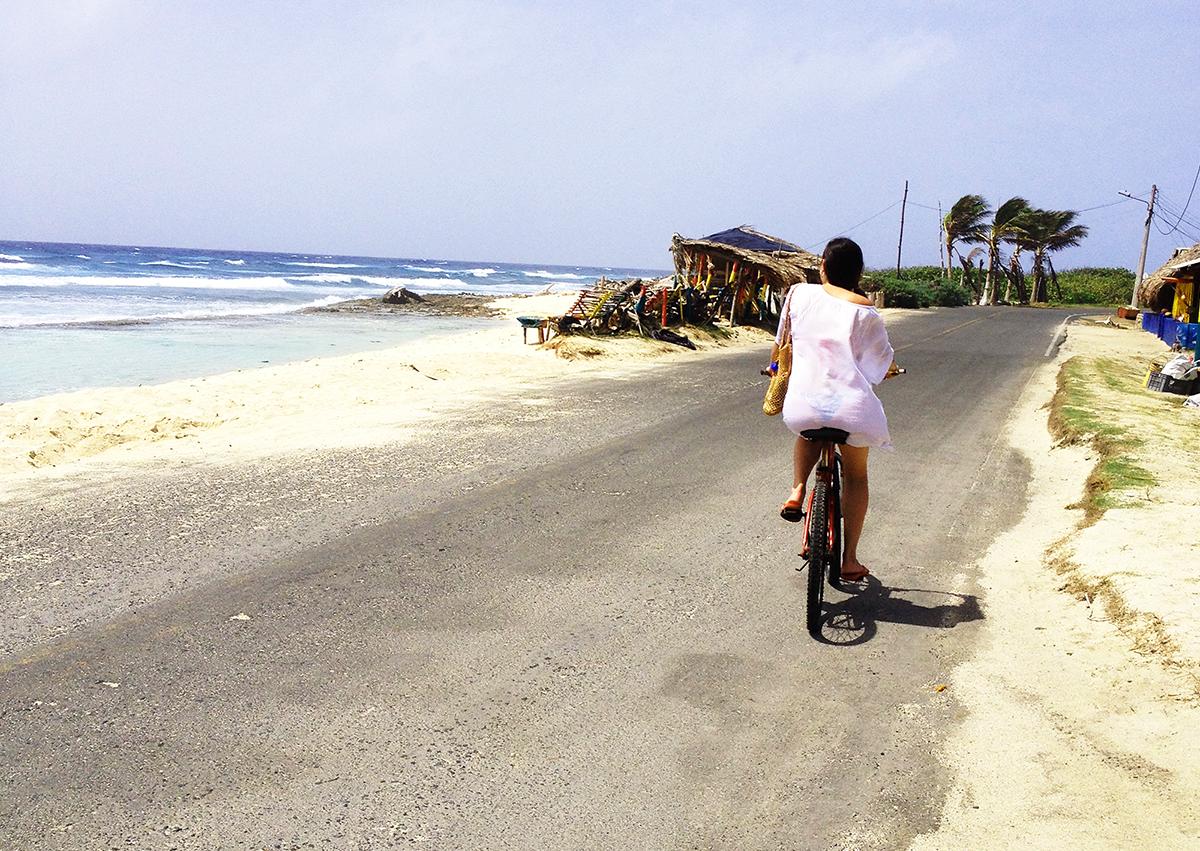 Passeio bicileta San Andres