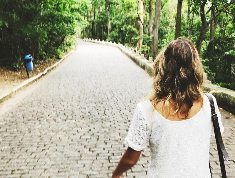 Subida para o Convento da Penha em Vila Velha