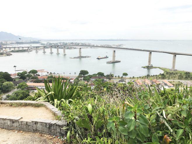 Vista do Convento da Penha em Vila Velha