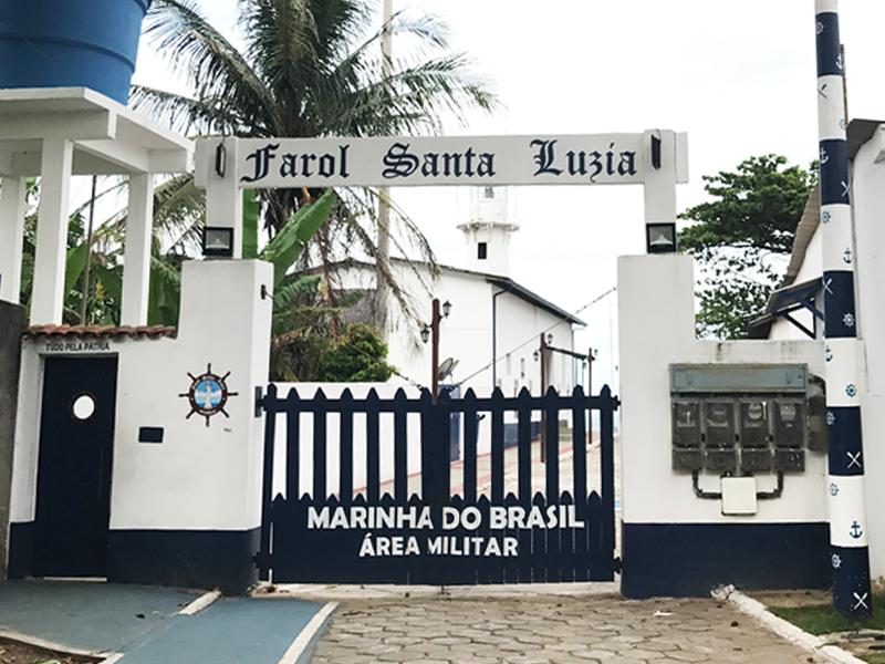 Farol de Santa Luzia na Praia da Costa em Vila Velha