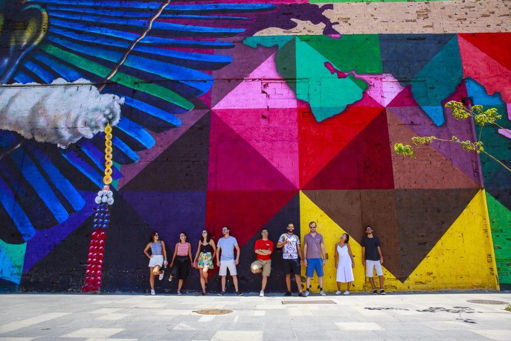 Mural do Kobra no Boulevard Olímpico