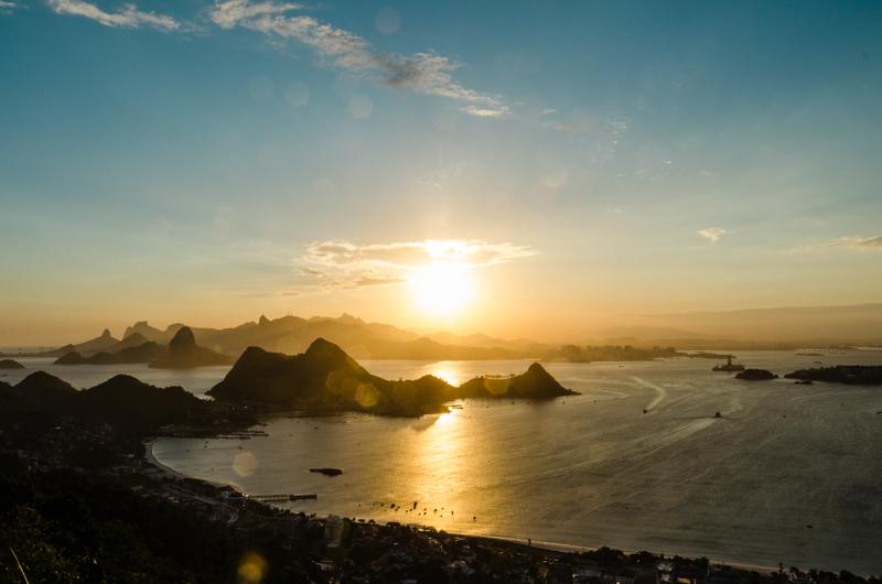 por do sol mais bonito do rio de janeiro