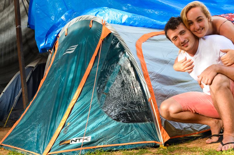 barraca de camping para casal