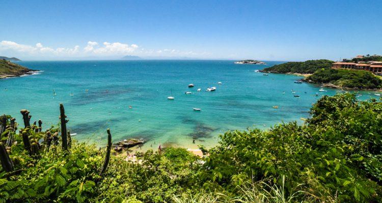Vista da praia de João Fernandes Búzios