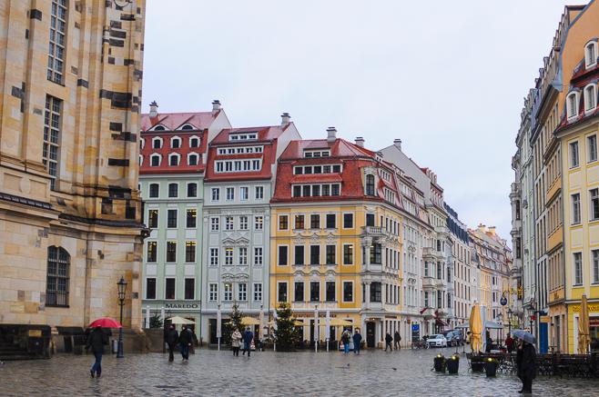 Praça em Dresden na Alemanha