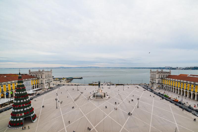 Vista do Arco da Augusta para o Terreiro do Paço, Lisboa
