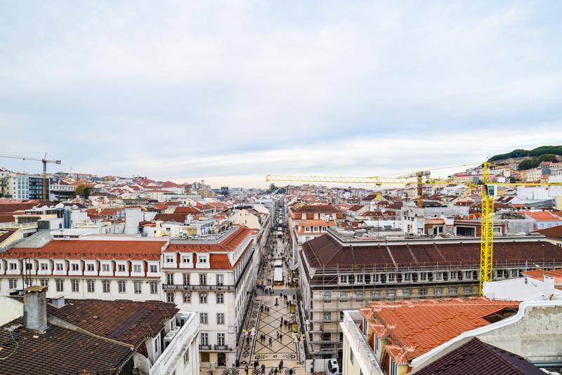 Vista da Rua Augusta, Lisboa