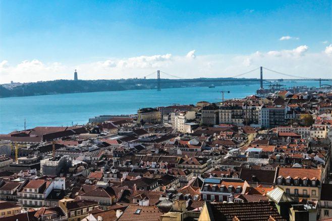 Lisboa vista do Castelo São Jorge