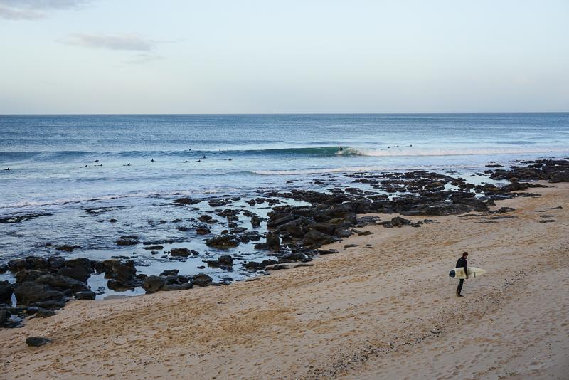 Praia dos Supertubos em Jeffrey's Bay