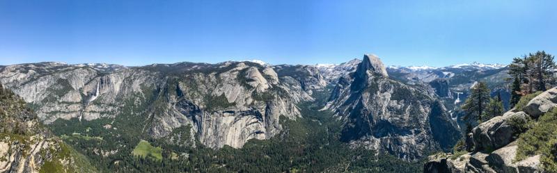 Panorama Glaciar Point Yosemite