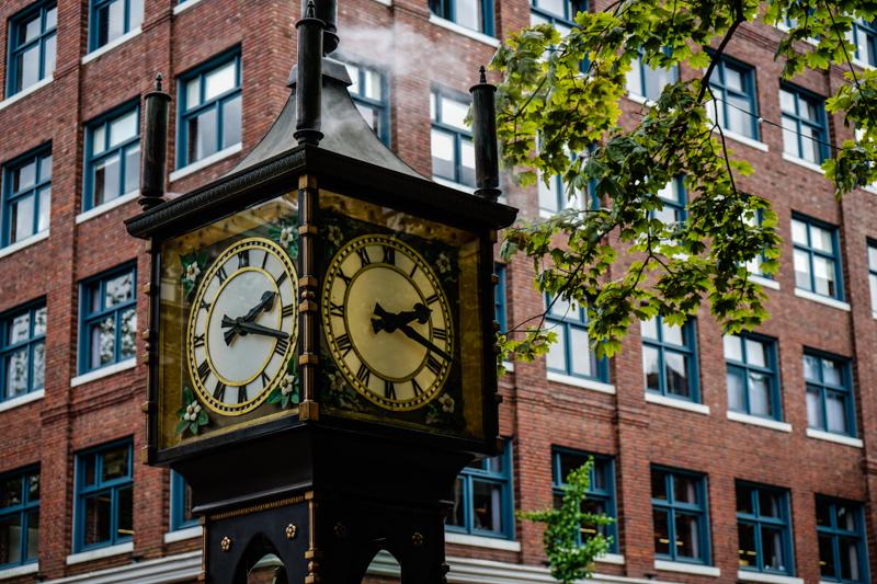 steam clock, o relógio famoso de vancouver