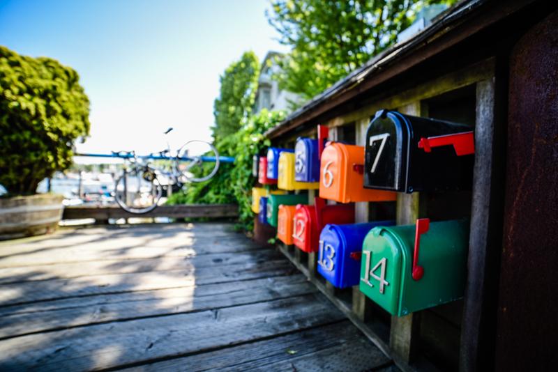 Caixas de correio em Granville Island