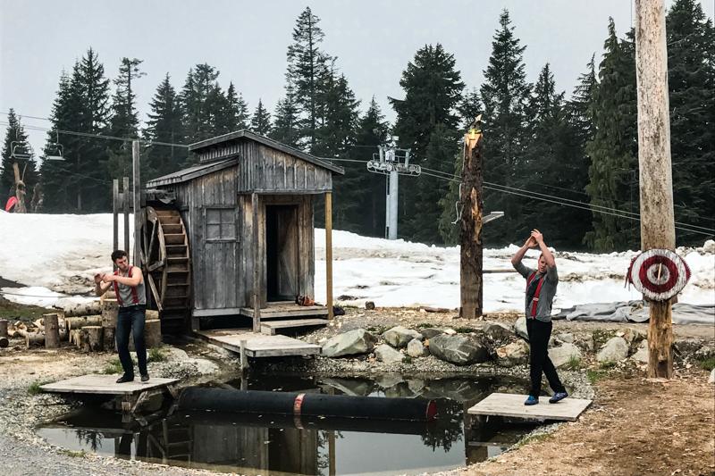 competição de lenhadores em Grouse Mountain, Vancouver