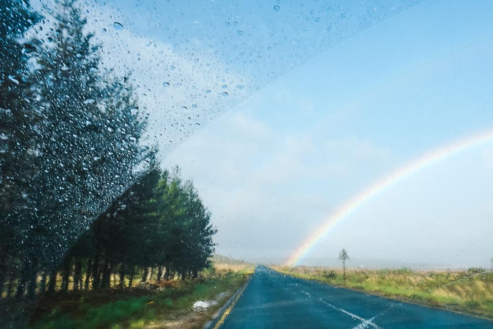 Arco-íris na Garden Route na África do Sul