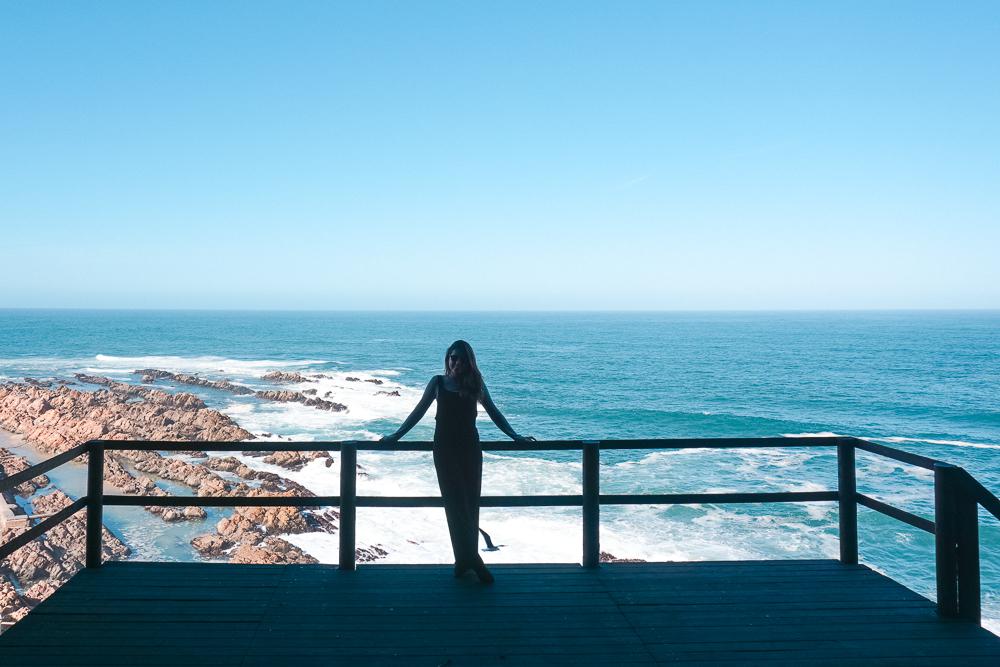 Visual lindo para a praia de Mossel Bay