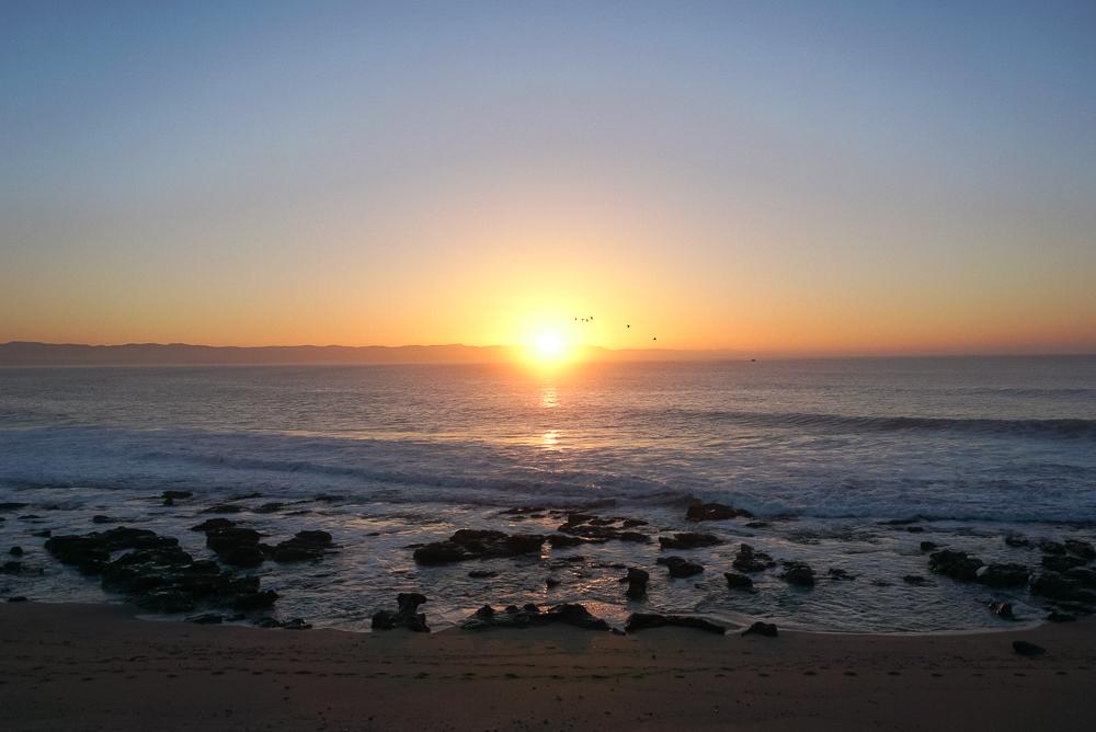 nascer do sol na Supertubes